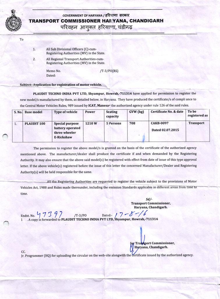 Plaudit-NOC-OF-Haryana,-Chandigarh