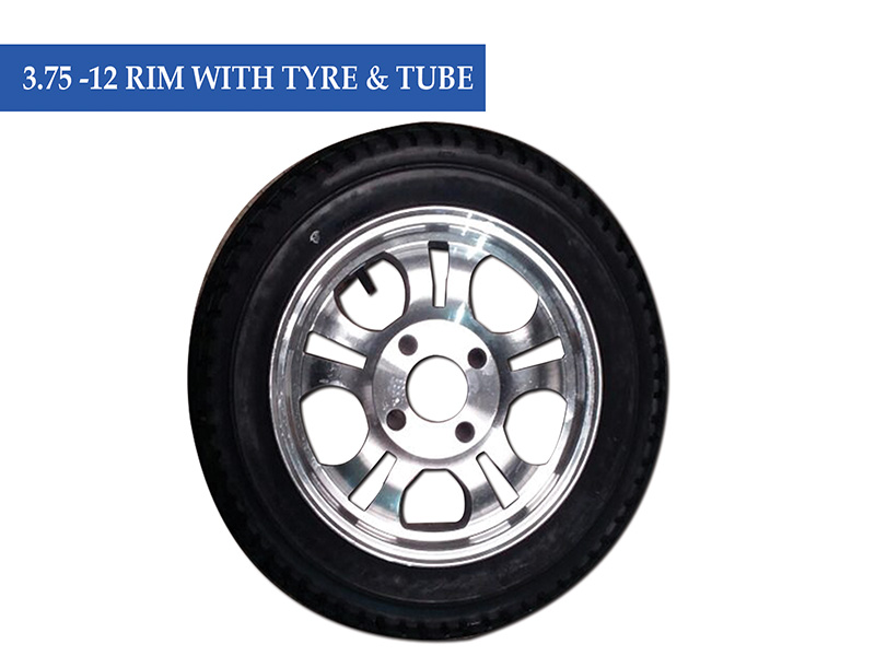 3.75 -12 Rim With Tube N Tyre